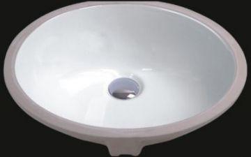 "19"" Oval Porcelain Ceramic Undermount Sink - JADE2401"