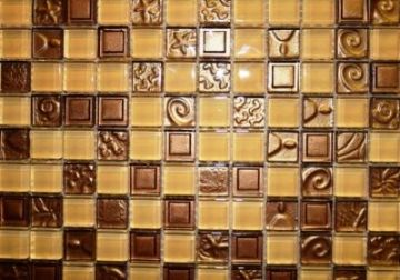 "Embed Series Glass Mosaic Tiles (1"" X 1"") EM-006"