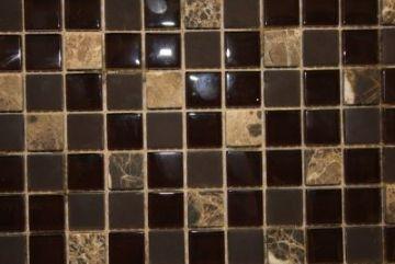 "Glass & Marble Mosaic Tiles (1"" X 1"") GM-305"