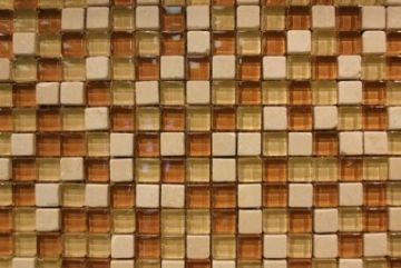 "Glass & Marble Mosaic Tiles (1/2"" X 1/2"") GM-701"