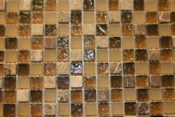 "Glass & Marble Mosaic Tiles (1/2"" X 1/2"") HF001"