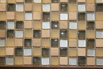 """Glass & Marble Mosaic Tiles (1/2"""" X 1/2"""" ) NO.418"""