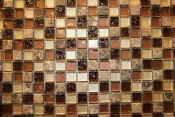 "Glass & Marble Mosaic Tiles (1/2"" X 1/2"") NO.93"