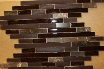 "Glass & Marble Mosaic Tiles (1/2"" X Random) GM15Z-06"