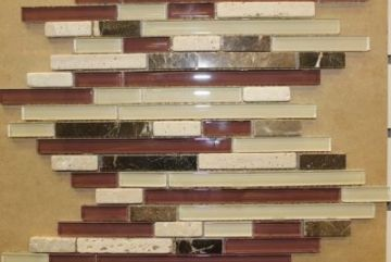 "Glass & Marble Mosaic Tiles (1/2"" X Random) GM15Z-12"