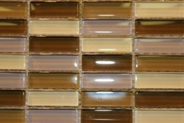 "Glass Mosaic Tiles (1/2"" X 2"") GM-C-816"