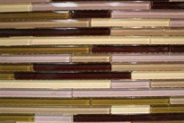 "Line Series Glass Mosaic Tiles (1/2"" X Random) LN-109"