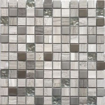 Metal Stone Amp Crackled Glass Mosaic Tiles 1 Quot X 1 Quot Jade