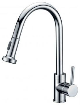 Single Handle High Arc Kitchen Faucet with Pullout - JADE-2207