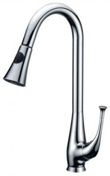 Single Handle High Arc Kitchen Faucet with Pullout - JADE-2242