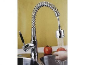 Single Handle Kitchen Faucet with Pullout - JADE-1055