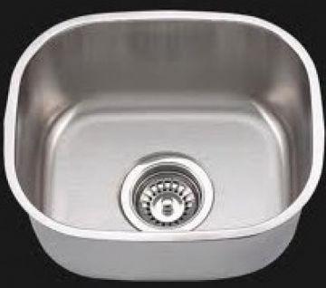 "Undermount 15"" Single Bowl Stainless Steel Sink - JADE-1512"