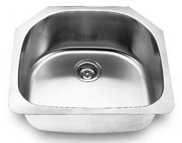 "Undermount 23-5/8"" Single Bowl Stainless Steel Sink - JADE-2421"