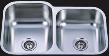 "Undermount 31-1/2"" Double Bowl Stainless Steel Sink - JADE3220"