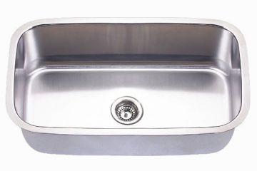 "Undermount 31-1/2"" Single Bowl Stainless Steel Sink - JADE-3118"