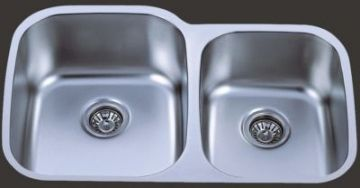 Undermount 32 1 8 Quot Double Bowl Stainless Steel Sink Jade