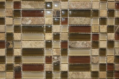 "Glass & Marble Mosaic Tiles (1/2"" X 1/2"" & 1/2"" X 2"" ) NO.90C"