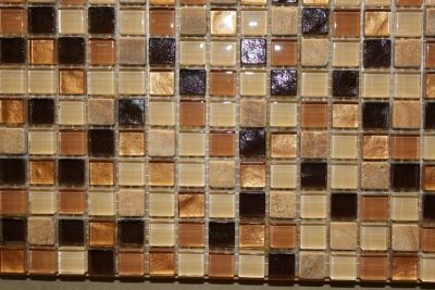 "Glass & Marble Mosaic Tiles (1/2"" X 1/2"") NO.429"