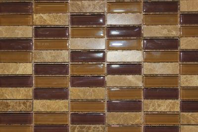 "Glass & Marble Mosaic Tiles (1/2"" X 2"") GM-C-814"