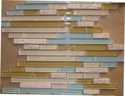 "Glass & Marble Mosaic Tiles (1/2"" X Random) GM15Z-09"