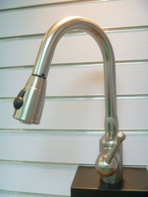 Single Handle Brushed Nickel Kitchen Faucet - JADE290042BN