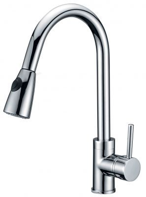 Single Handle High Arc Kitchen Faucet with Pullout - JADE-2209
