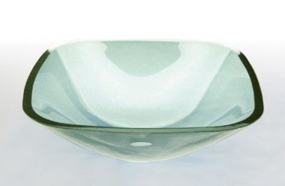Tempered Clear Square Glass Basin - JADE390