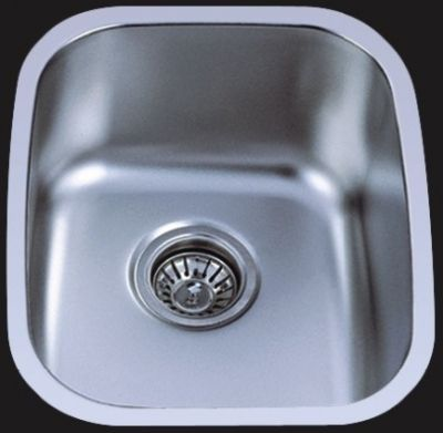 "Undermount 15"" Single Bowl Stainless Steel Sink - JADE1519"