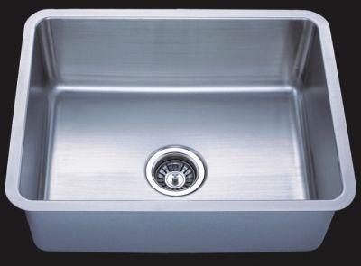 """Undermount 23"""" Single Bowl Square Stainless Steel Sink-JADE2318-N"""