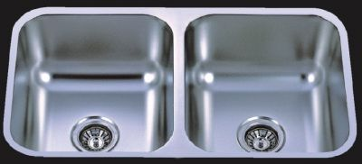 """Undermount 31-1/4"""" Double Bowl Stainless Steel Sink - JADE-3118A"""