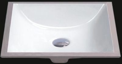 "White 18"" Rectangular Porcelain Ceramic Undermount Sink - JADE2428"