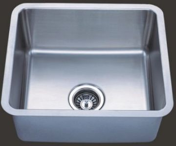 Undermount 19 Single Bowl Square Stainless Steel Sink Jade1917 N